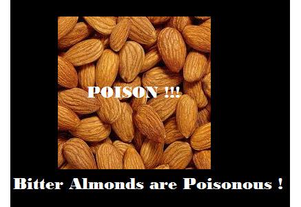 Poisonous almonds