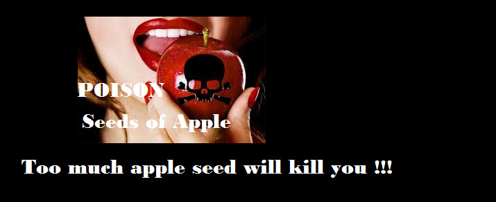 apple seed poisonous