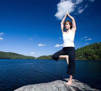 women doing self care- meditation