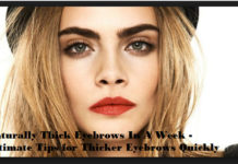 how to get thick eyebrows in a week