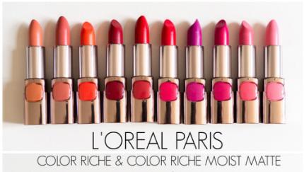 loreal-color-rich-moist-matte-range