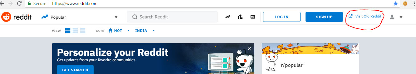 Use Old Reddit Layout - How to opt out New Reddit Design