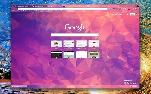 how to change google chrome theme mac