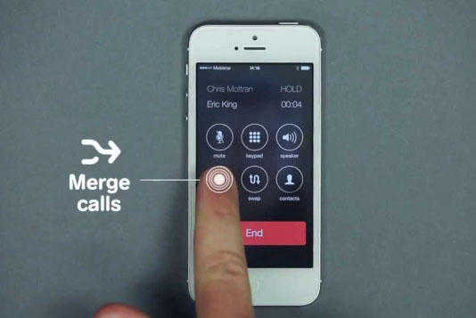 how to add conference call in iphone